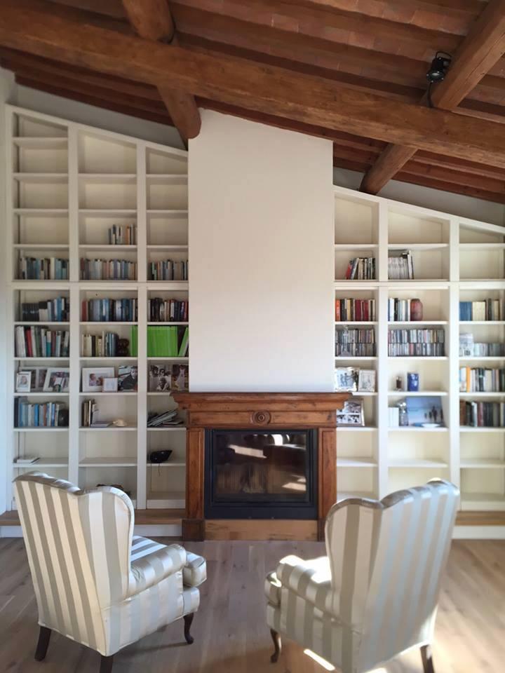 Librerie su misura roma librerie su misura arredamentiroma - Libreria divisoria con porta ...